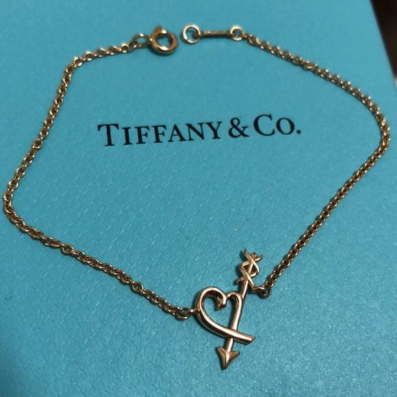 2c972feb5481e NEW TIFFANY & CO 18K GOLD HEART ARROW BRACELET NWT
